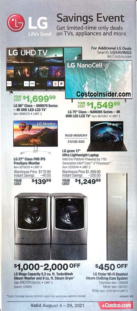 Costco August 2021 Coupon Book Page 7