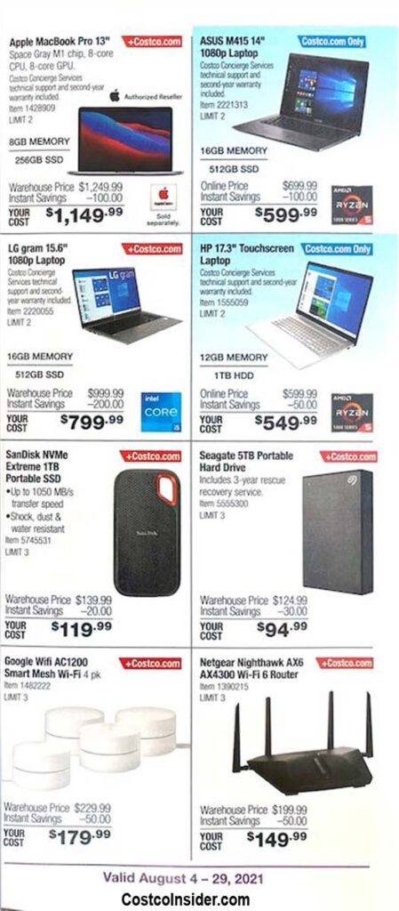 Costco August 2021 Coupon Book Page 8