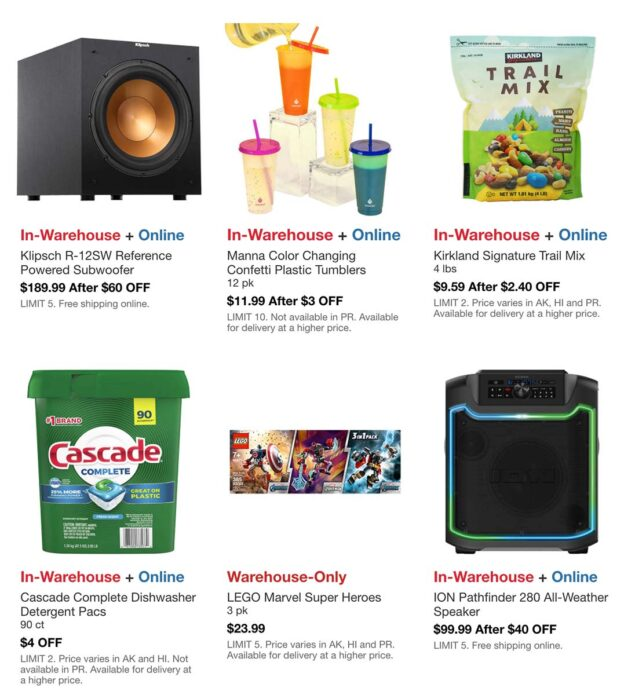 Costco August 2021 Hot Buys Page 2