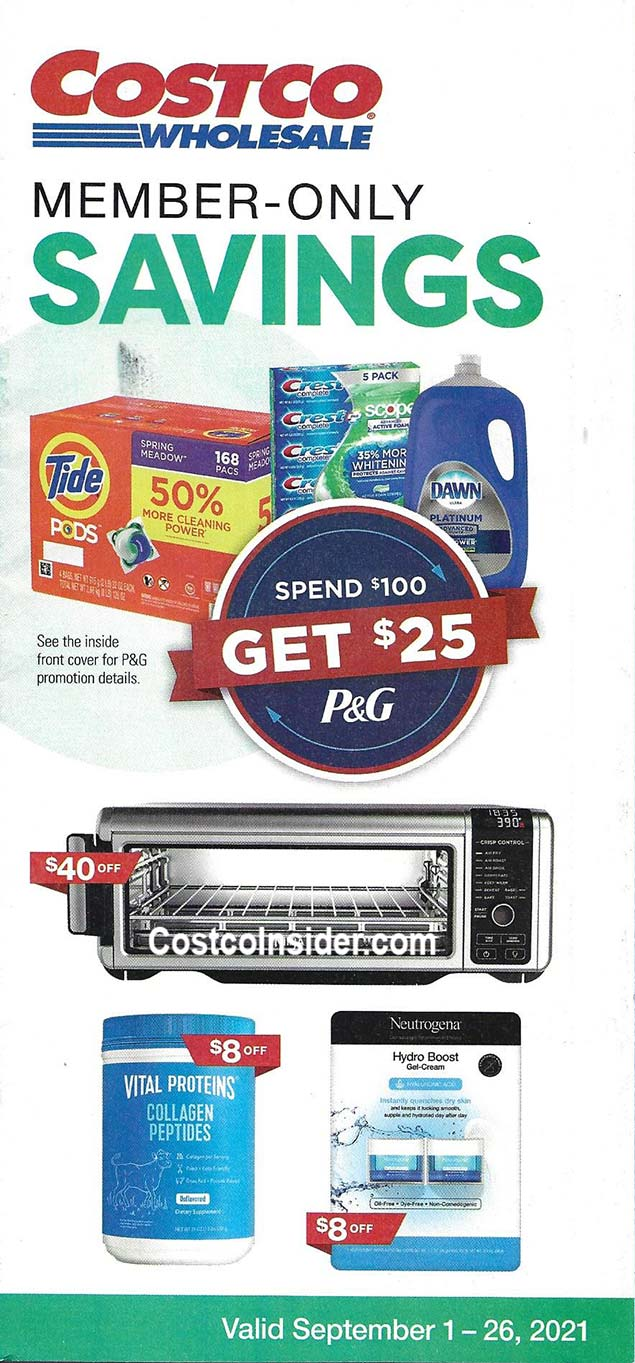 Costco September 2021 Coupon Book Cover