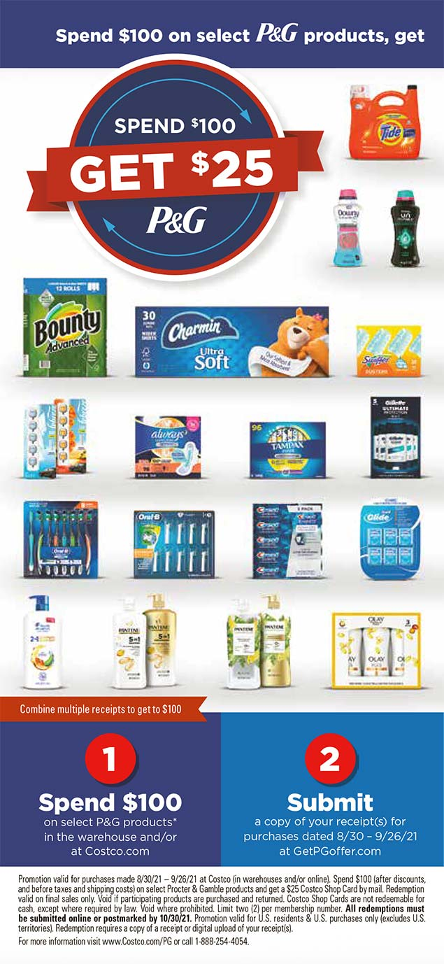 Costco September 2021 Coupon Book Page 1