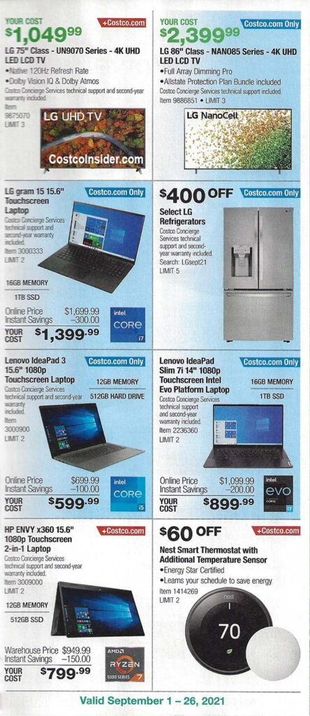 Costco September 2021 Coupon Book Page 10