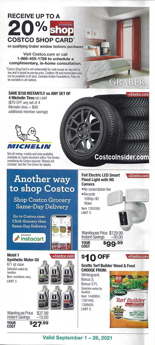 Costco September 2021 Coupon Book Page 13