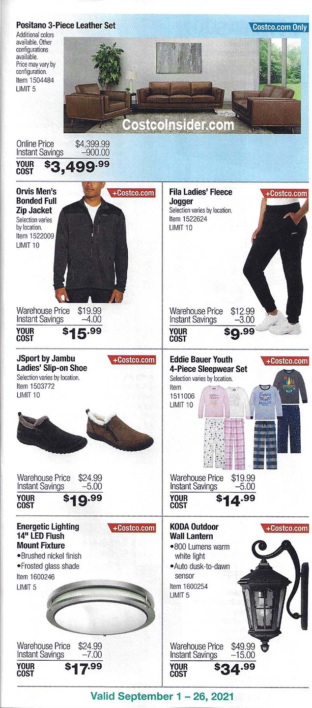 Costco September 2021 Coupon Book Page 14