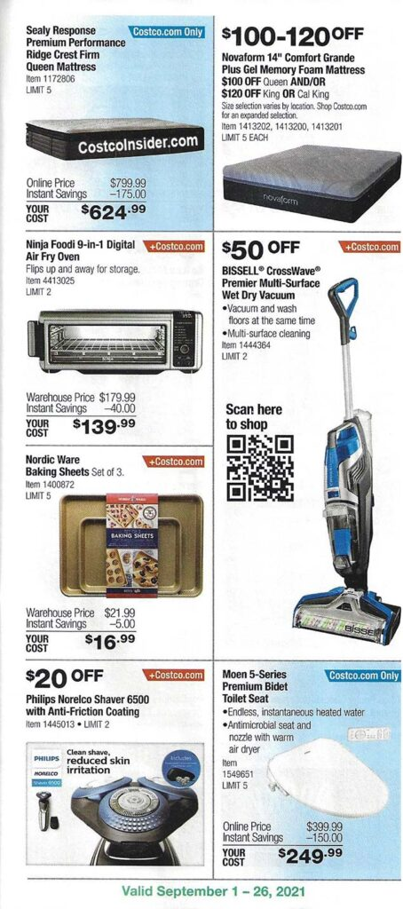 Costco September 2021 Coupon Book Page 16