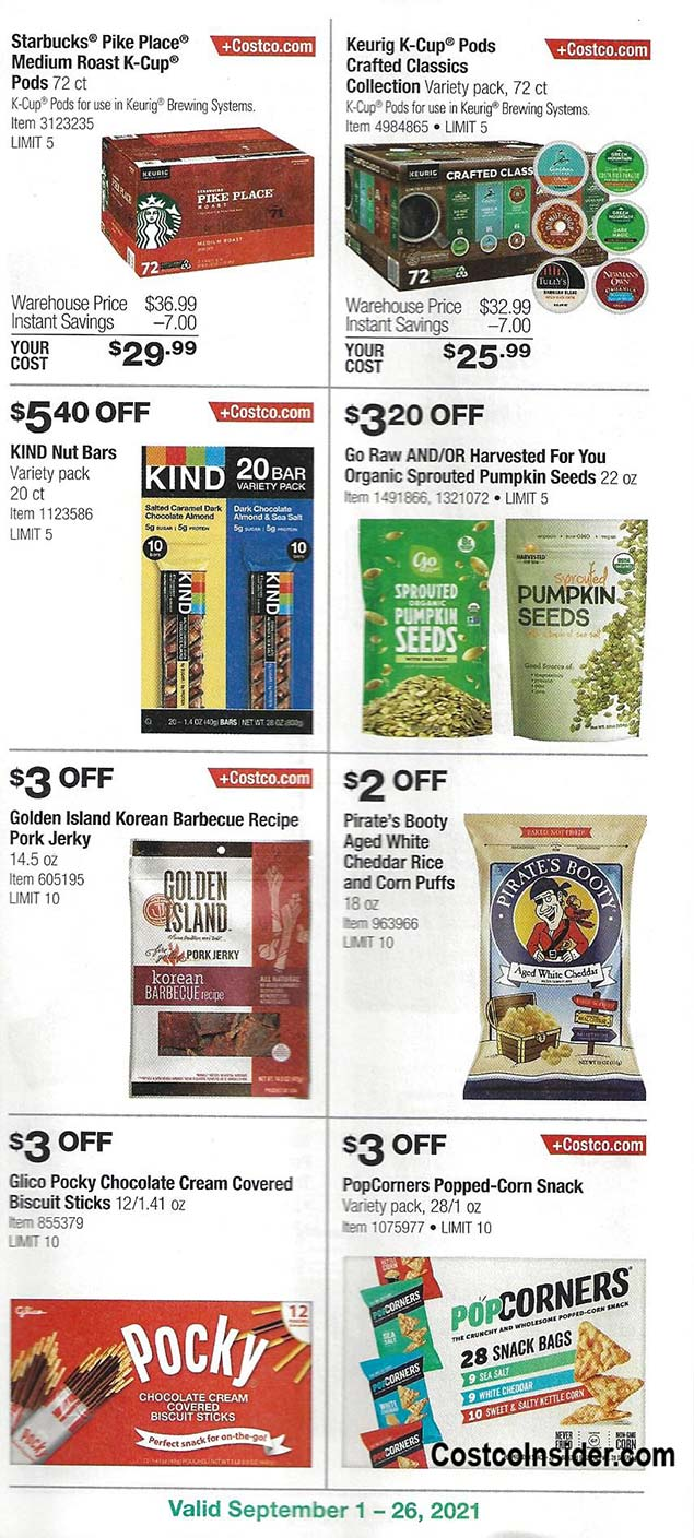 Costco September 2021 Coupon Book Page 17