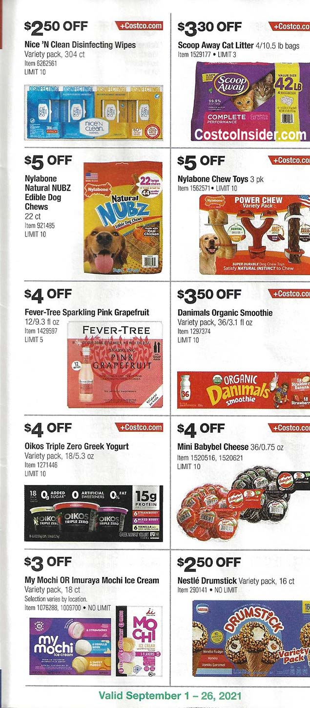 Costco September 2021 Coupon Book Page 20