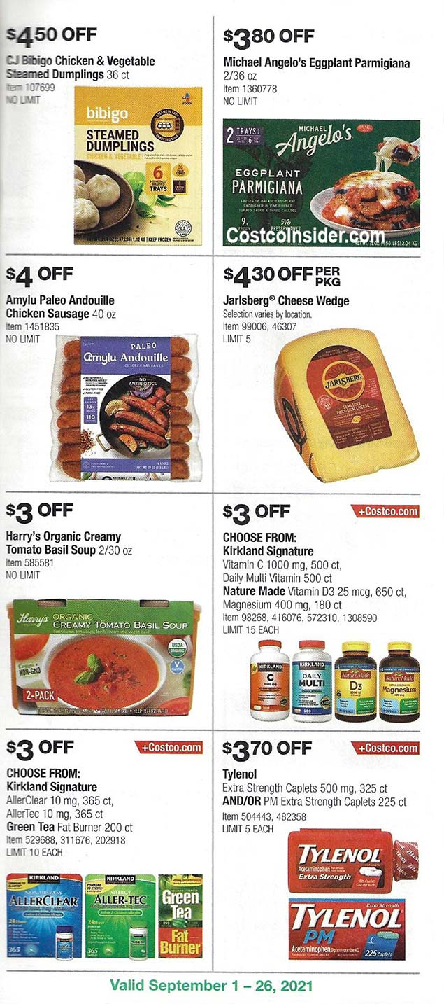 Costco September 2021 Coupon Book Page 21
