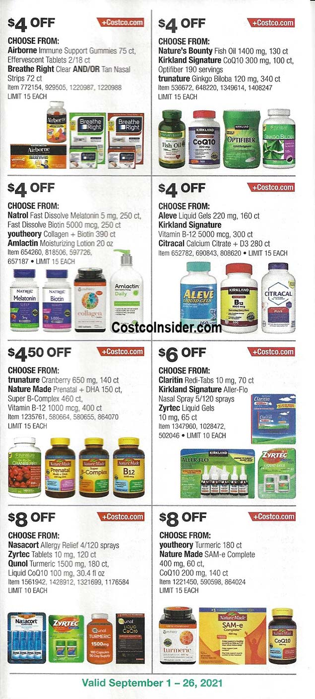 Costco September 2021 Coupon Book Page 22