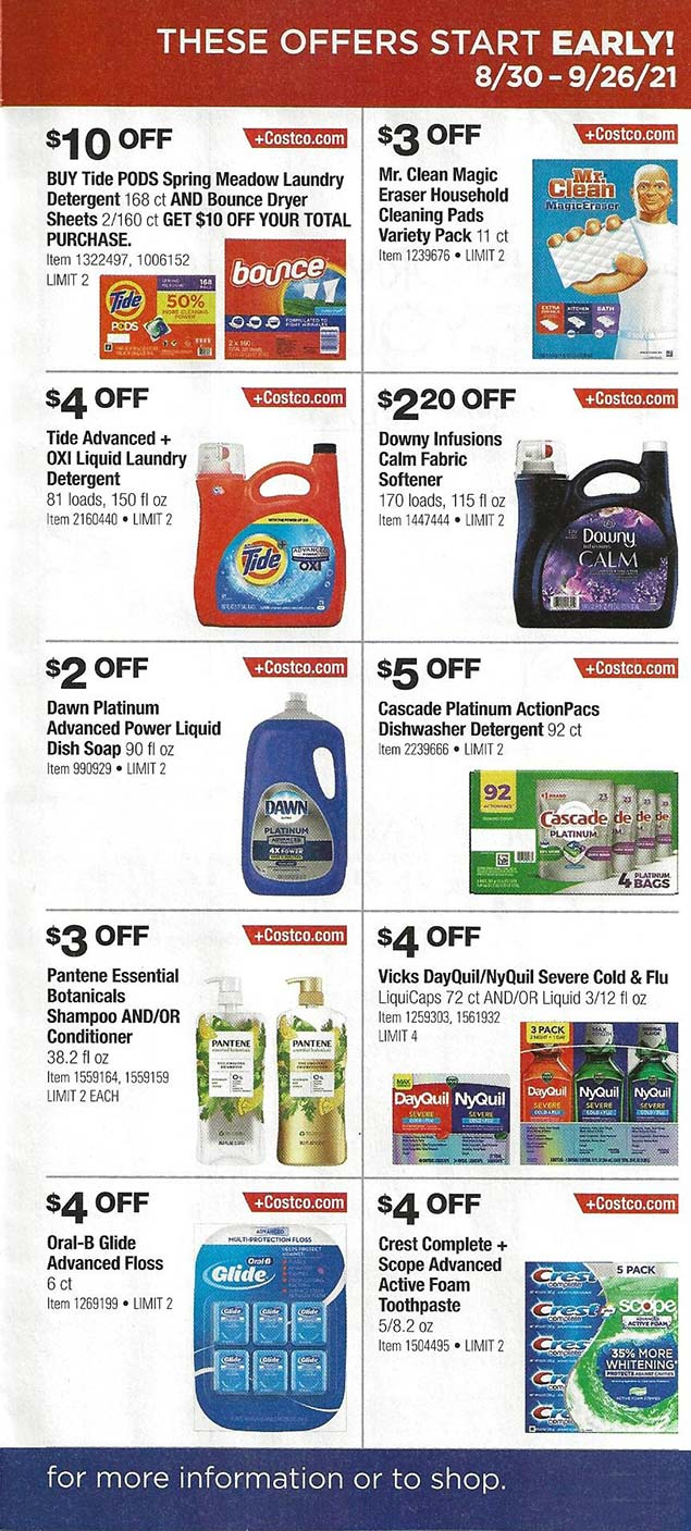 Costco September 2021 Coupon Book Page 4