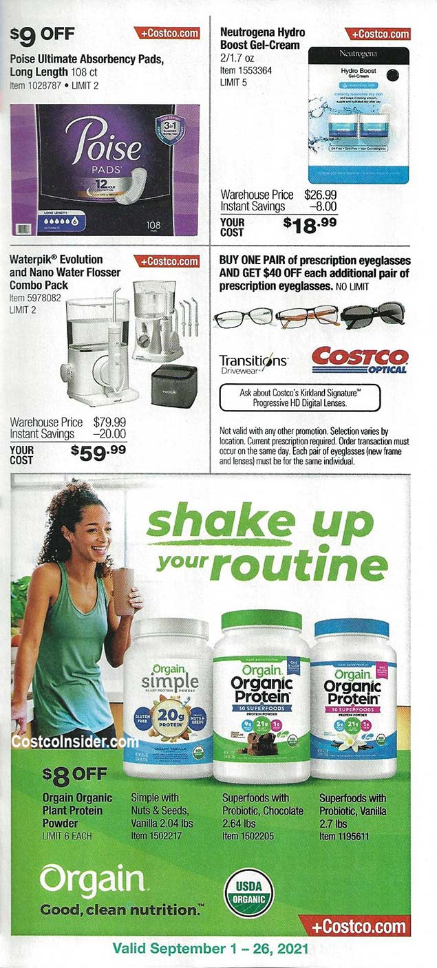 Costco September 2021 Coupon Book Page 6