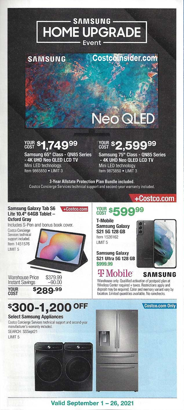 Costco September 2021 Coupon Book Page 8