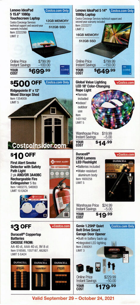 Costco October 2021 Coupon Book Page 10