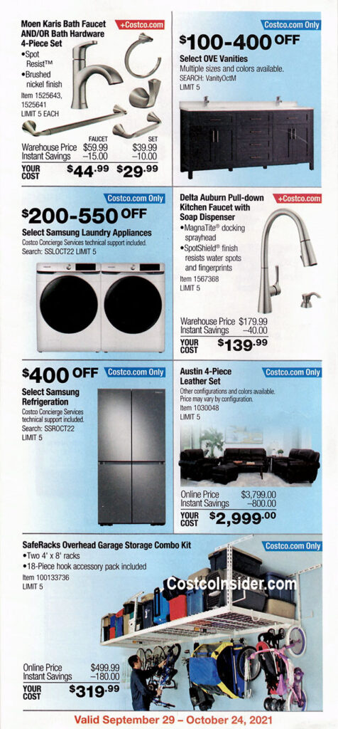 Costco October 2021 Coupon Book Page 12