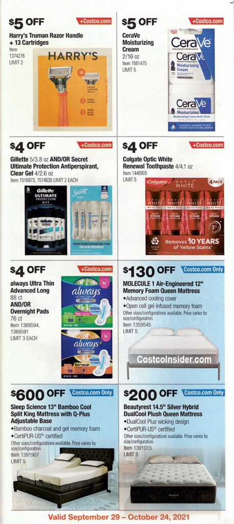 Costco October 2021 Coupon Book Page 14