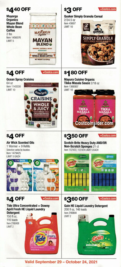 Costco October 2021 Coupon Book Page 17