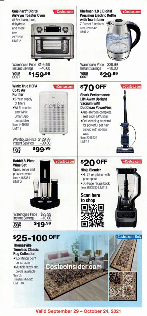 Costco October 2021 Coupon Book Page 2