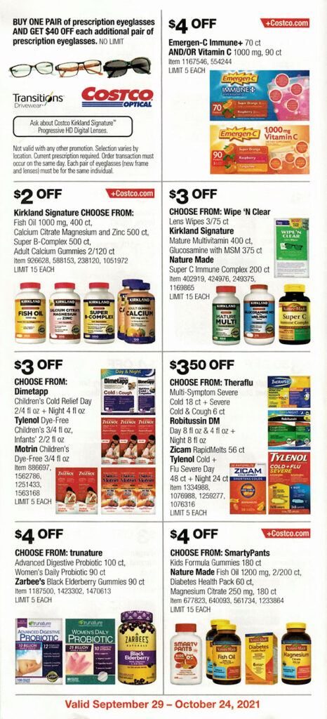 Costco October 2021 Coupon Book Page 21