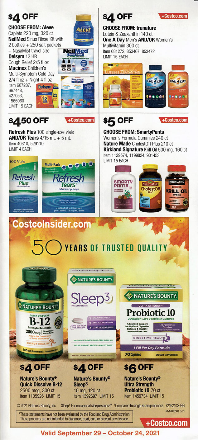 Costco October 2021 Coupon Book Page 22