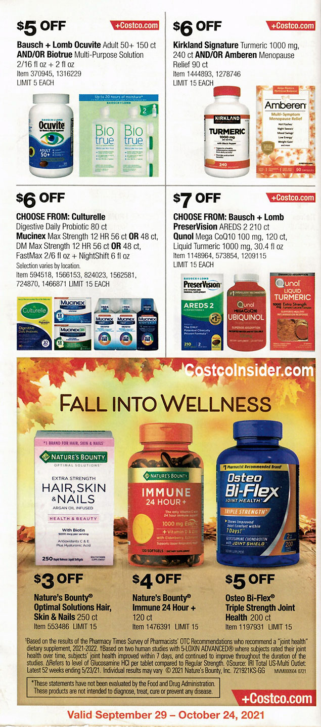 Costco October 2021 Coupon Book Page 23