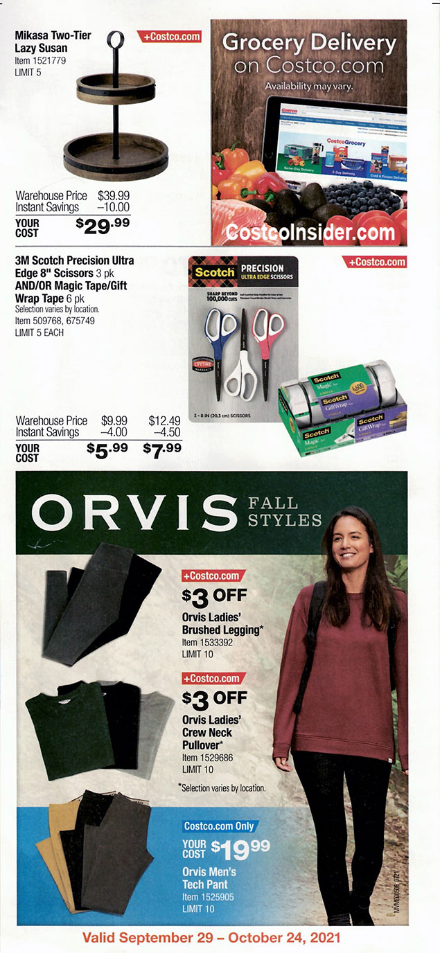 Costco October 2021 Coupon Book Page 3