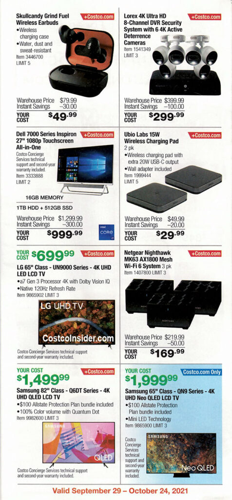 Costco October 2021 Coupon Book Page 8
